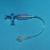 Drei-Wege-Hahn (PSU) 10 cm Leitung 1,5 x 2,7 mm blau