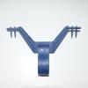 Urinbeutel-Halter blau