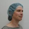 Schwesternhauben (Barettform) 53 cm, blau (100 Stück)