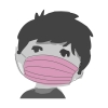 Mundschutz, medizinsch, 3-lagig für Kinder, mit Gummi, pink (10 Stück)