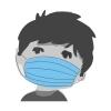 Mundschutz, medizinsch, 3-lagig für Kinder, mit Gummi, blau (10 Stück)