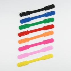 Ohrschlaufenverlängerung für Schutzmasken, PVC, farblich gemischt, 14 cm x 1,6 cm